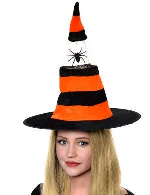 Orange And Black Witch Halloween Costume Hat