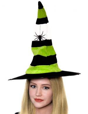 Spider Halloween Witch Hat - Green