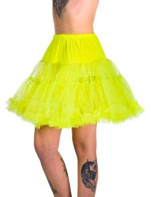 Women's Plus Size Neon Yellow Thigh Length Costume Petticoat
