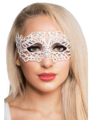 Razzle Dazzle Metal Rhinestone Masquerade Mask