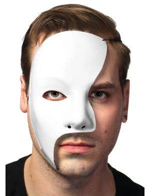 Men's White Phantom of the Opera Masquerade Mask