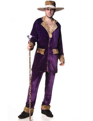 Top Pimp Mac Daddy Costume - Purple