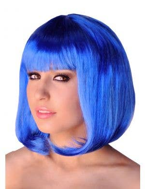 Supermodel Bob Wig in Blue