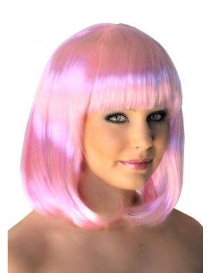 Supermodel Bob Wig in Pale Pink