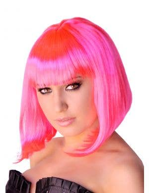 Supermodel Bob Wig in Hot Pink