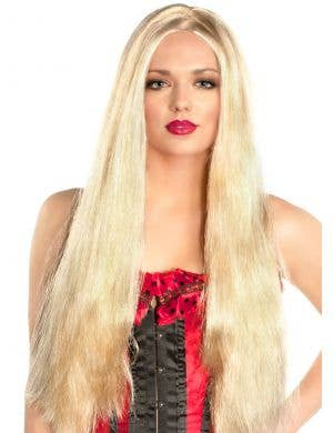 "24"" Extra Long Golden Blonde Wig"