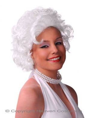 Curly White Women's Marilyn Monroe Costume Wig