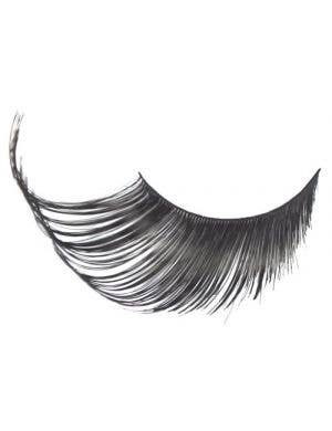 Women's Black Costume Eyelashes With Tinsel Highlights Main