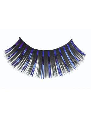 Long Black And Blue Tinsel Highlight costume Eyelashes Main