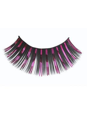 Pink And Black Women's Long Costume Eyelashes Main Image