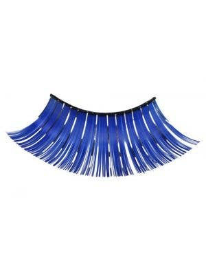 Women's Long Blue Costume Eyelashes Main Image