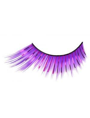 Purple Costume Eyelashes With Tinsel Highlights Main
