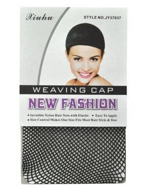 Adults Black Open End Wig Cap Costume Accessory