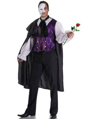 Men's Phantom Of The Opera Fancy Dress Costume Main Image