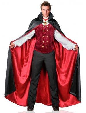Men's Plus Size Count Bloodthirst Halloween Vampire Costume