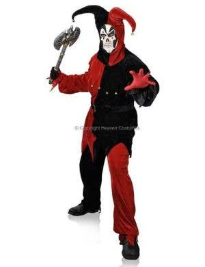 Evil Jester Men's Halloween Plus Size Costume Main Image