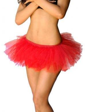 Adorable Red Fluffy Tutu Petticoat View 1