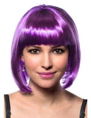 Eden Purple Bob Women's Costume Wig