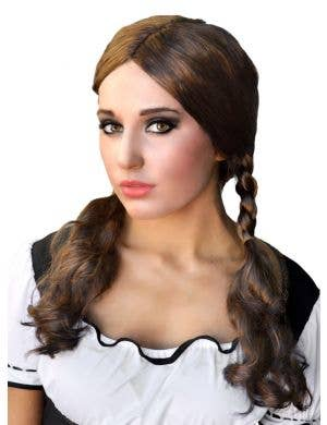 Plaited Brown Beer Girl Costume Wig