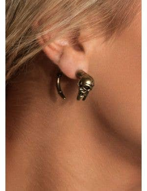 Skull and Tail Fake Plug Fashion Earring