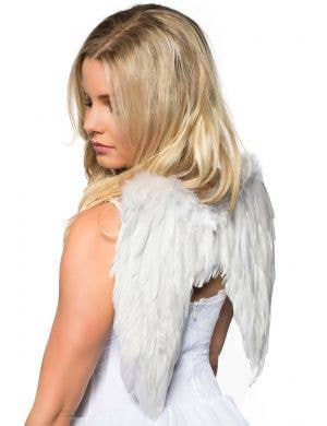 White Feather Mini Angel Wings