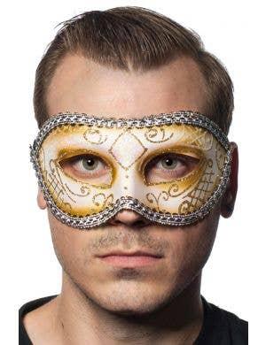 Unisex Mardi Gras Masquerade Mask - White