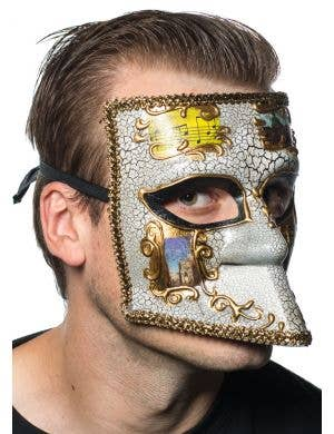 Medieval Men's Masquerade Mask - Gold