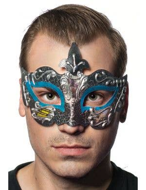 Baroque Men's Teal Masquerade Mask