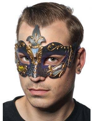 Baroque Men's Purple Masquerade Mask
