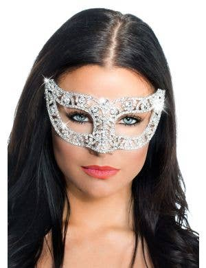 Deluxe Crystal Victorian Masquerade Mask