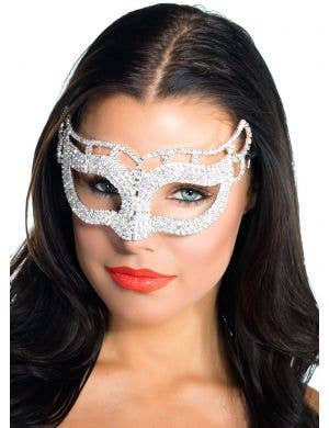 Deluxe Petite Crystal Masquerade Mask