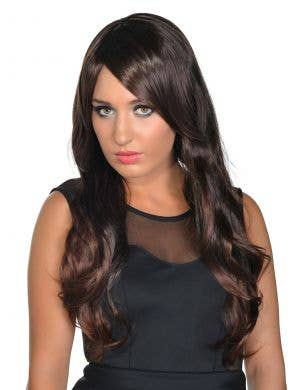 Deluxe Quinn Wavy Dark Brown Fashion Wig