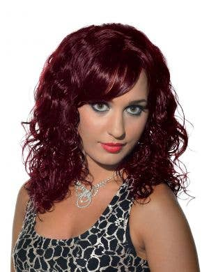 Eve Burgundy Curly Deluxe Fashion Wig