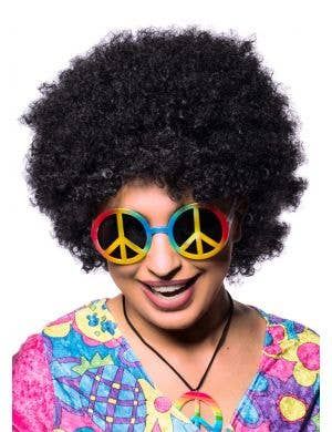 Women's 1970's Black Afro Costume Wig