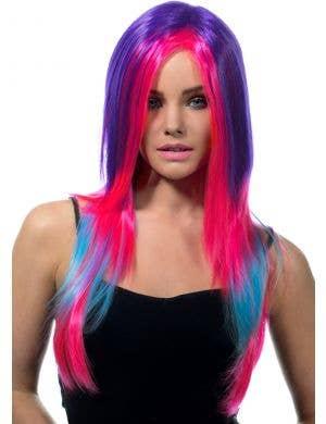Asha Razor Cut Women's Deluxe Rainbow Wig