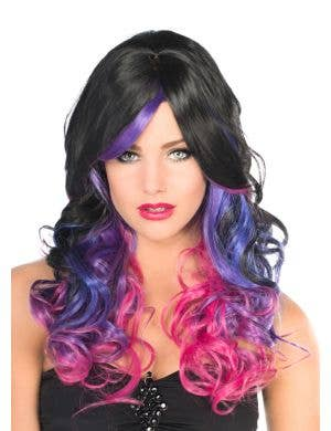 Ada Deluxe Black and Purple Fashion Wig