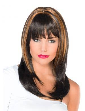Carla Deluxe Black and Copper Fashion Wig