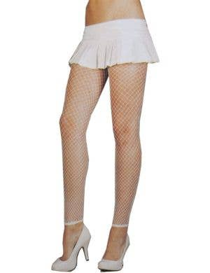 Fence Net Plus Size Leggings in White
