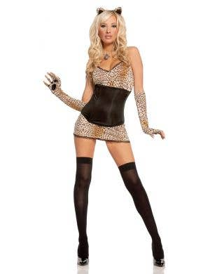 Leopard Kitty Women's Sexy Cat Costume Main Image