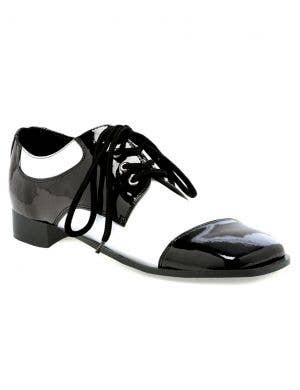 1920's Men's Black and White Gangster Costume Shoes