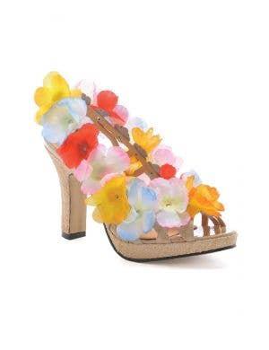 Luau Women's Hawaiian High Heel Costume Shoes