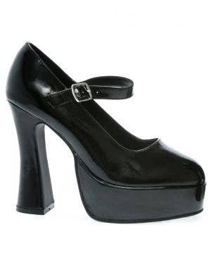 Chunky Heel Women's Black Mary Jane Costume Shoe