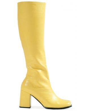 Go Go Women's 60's Long Yellow Costume Boots