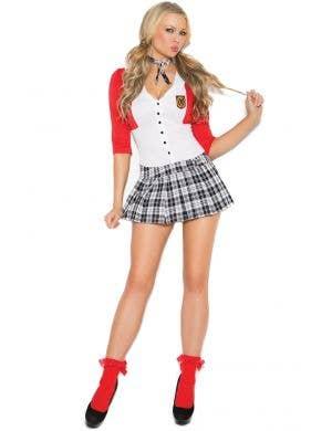 Sexy Dean List Diva Schoolgirl Women's Costume Front View