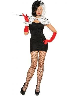 Evil Dog Napper Cruella De Vil Sexy Women's Costume