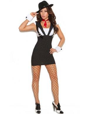Women's Sexy 1920's Mobster Costume Front View