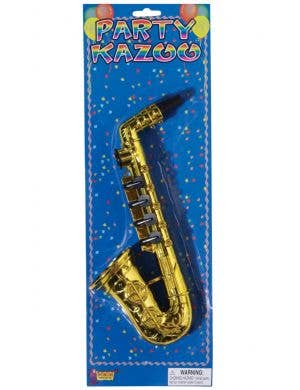 Saxophone Kazoo Gold Novelty Faux Musical Instrument