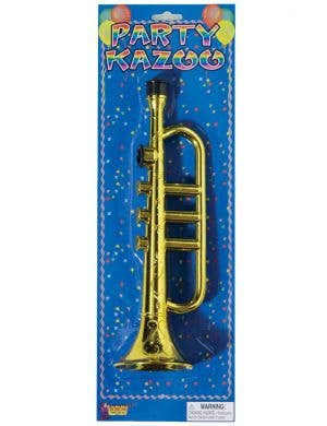 Trumpet Kazoo Gold Novelty Faux Musical Instrument