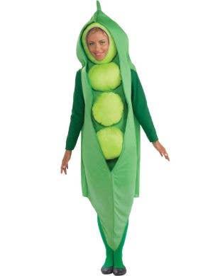 Novelty Green Pea Pod Adult's Fancy Dress Costume