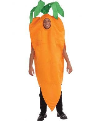 Novelty Orange Carrot Adult's Fancy Dress Costume